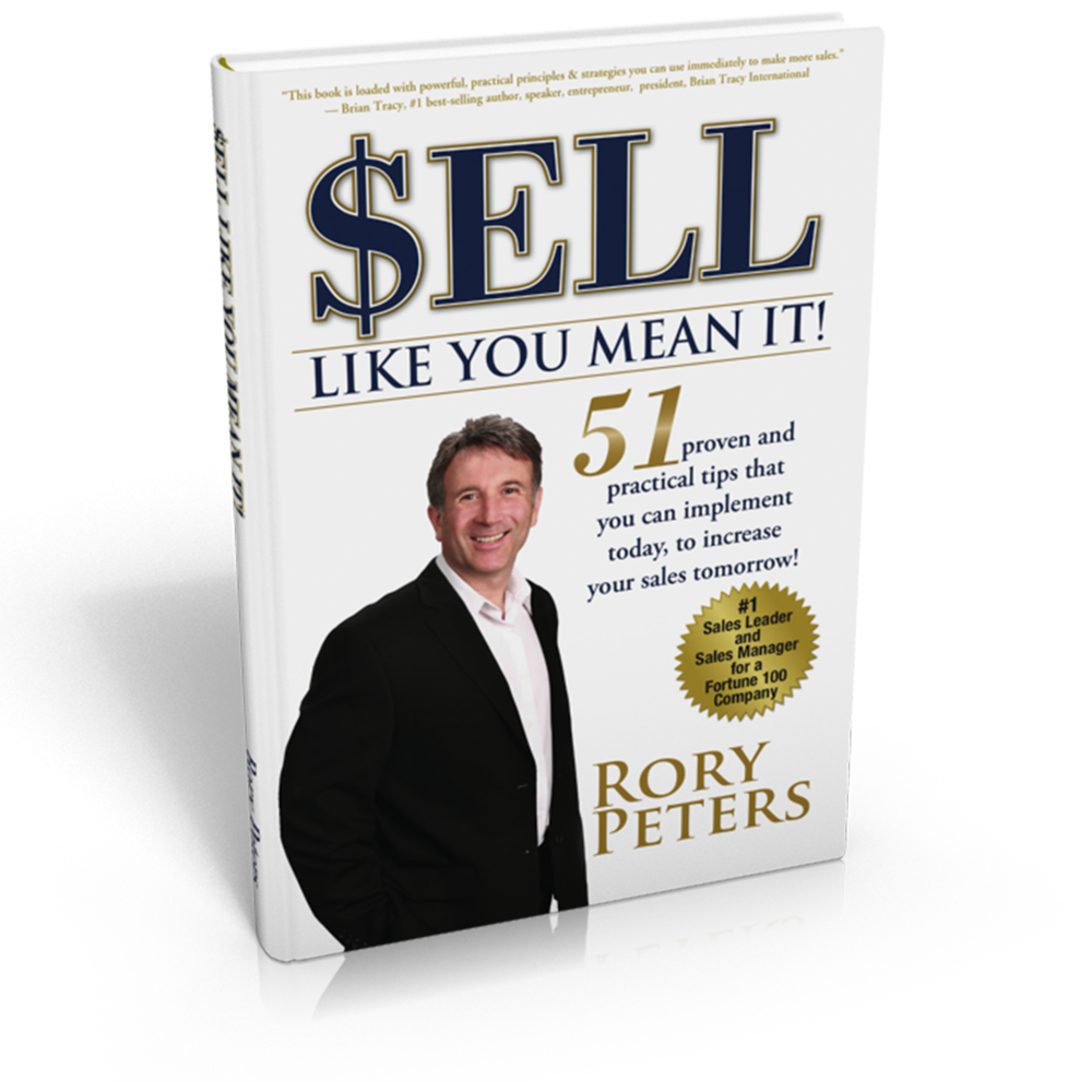Rory's new book, SELL LIKE YOU MEAN IT!