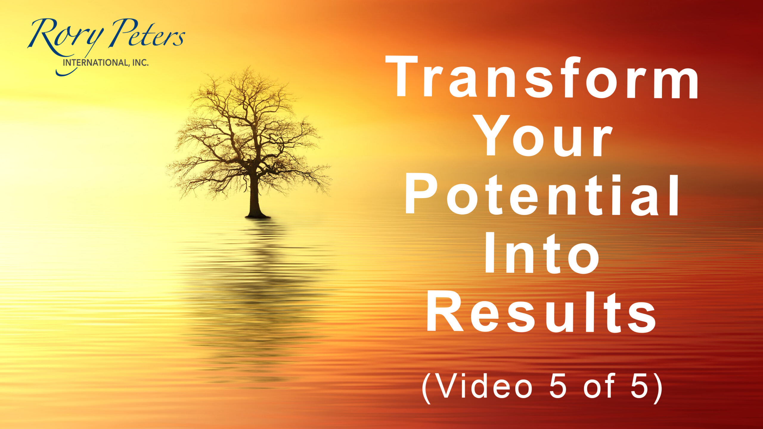 Transform Your Potential Into Results (5 of 5)